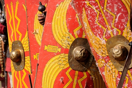 Roman legion shield Stock Photo