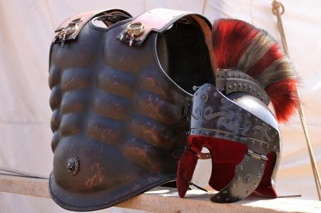 cascos romanos: Negro romana antigua armadura