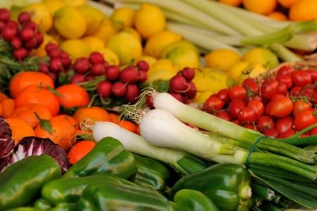 vegetables market Stock Photo