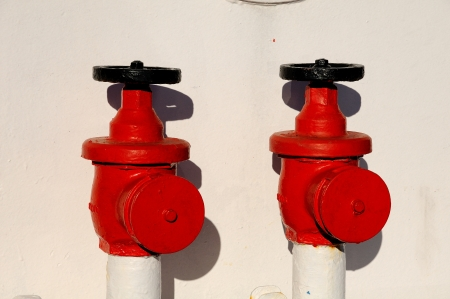Red hydrants photo