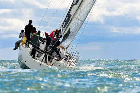 sailing crew Stockfoto