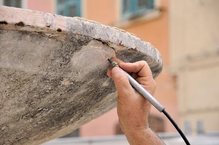 antyk: piaskowanie antyku