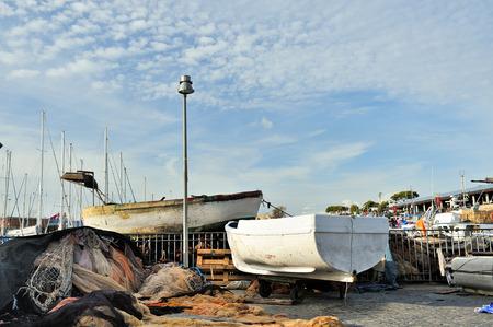 fishnet: Boat and fishnet
