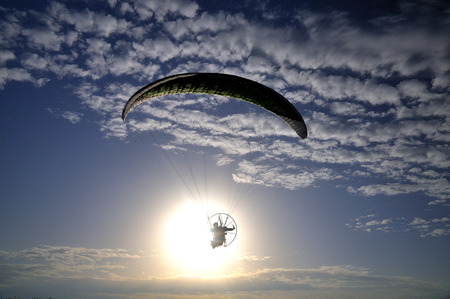 paramotor in the sunlight