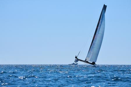 alone crew catamaran