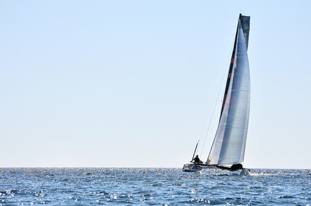sailing boats: alone crew catamaran
