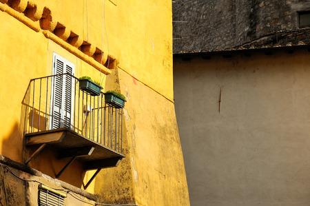 ancient balcony Stock Photo