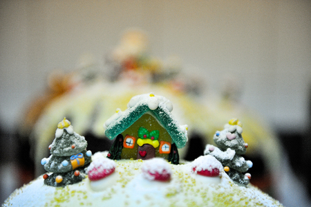 decorations up to traditional chocolat italian christmas cake