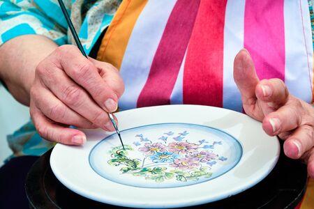 paint dish handmade work