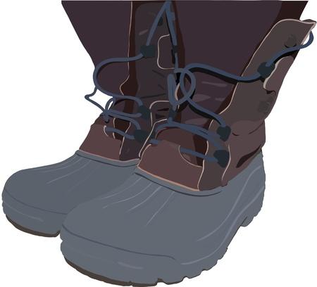 laarzen op een witte achtergrond Stock Illustratie