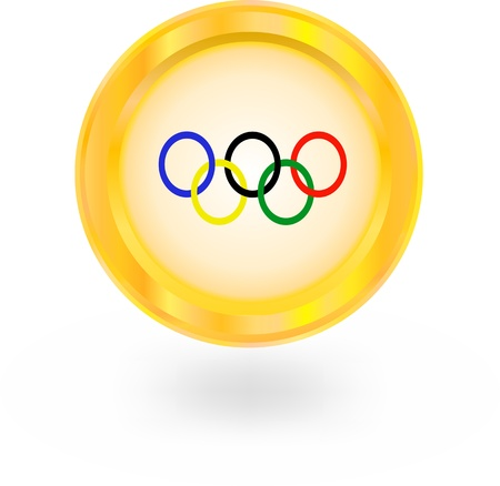 olympic game: icon olympic rings