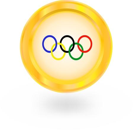 deportes olimpicos: icono de los anillos olímpicos