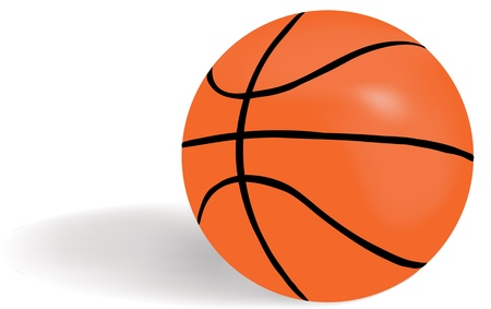 Illustratie basketbal bal Stockfoto