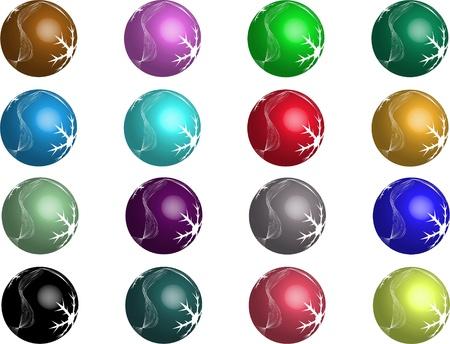 Illustration Christmas balls decoration icon