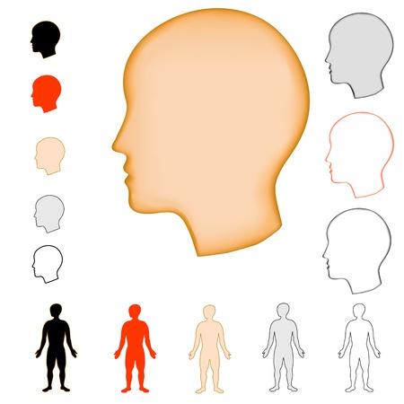 silhouet hoofd