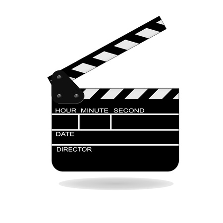 open movie slate Vector
