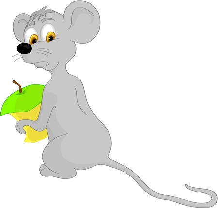 childrens food: cartoon mouse Illustration