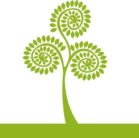 logo groene boom