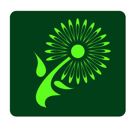 logo green flower Vector