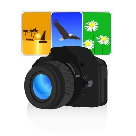 photo camera Ilustração