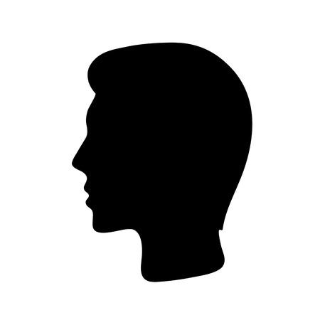 sillhouette of a man Иллюстрация