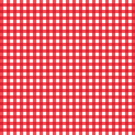 checked: Red and white checked tablecloth