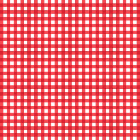 Rood en wit gecontroleerd tafelkleed