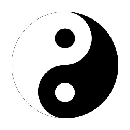yin y yang: icono de la muestra de Yin Yang Vectores