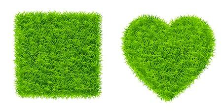 gras plein en het hart Stock Illustratie