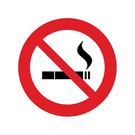 Niet roken bord Stock Illustratie