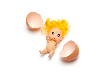 The small person has just got out of egg Stock Photo - 8900617