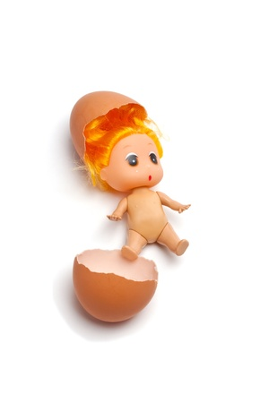 The small person has just got out of egg Stock Photo - 8900619