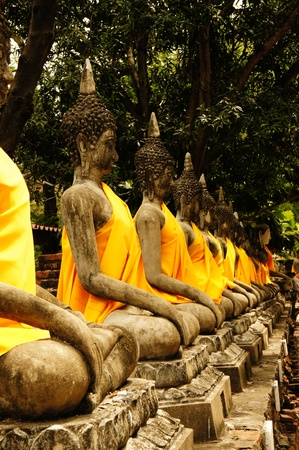 consecrated: buddha, arranged in rows. orderly Stock Photo