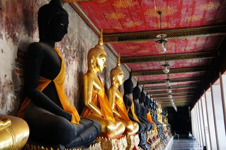 sacral: ฺbuddha is sacral in thai temples. Editorial
