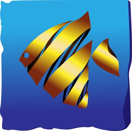 twirled: Goldfish decorativi su sfondo blu dalla barra multifunzione twirled