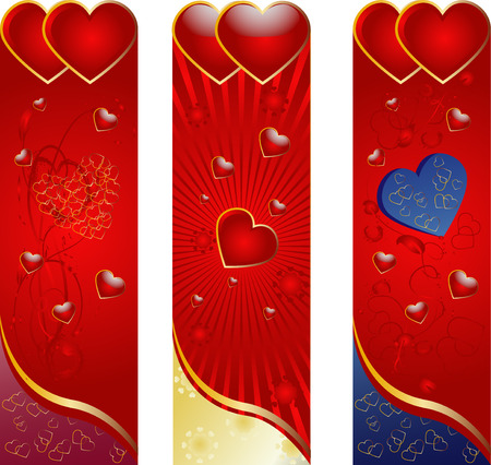 Decorative background from hearts with plants