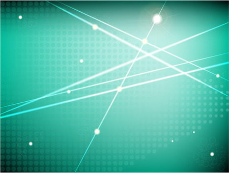 Abstract background in turquoise tones with decorative elements Halftone and stars