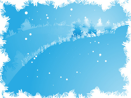 Winter abstract background in frame from freezing pattern Stock Vector - 8118576