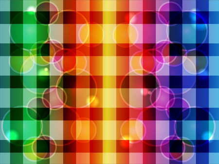 Abstract background from color squared shapes and circles Vector