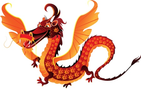 The mythical dragon symbol 2012 Vector