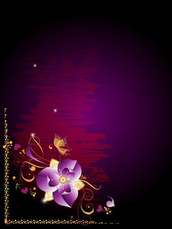 Background for the text with a decorative floral elements 1