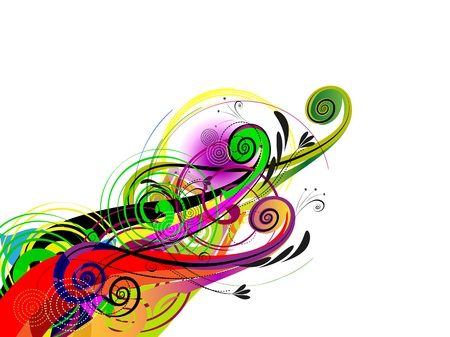graphic backgrounds: Abstract Composition of the whorls, circles and lines