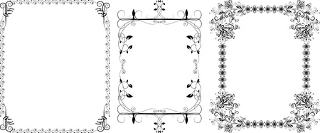 Decorative a black borders vintage ornament