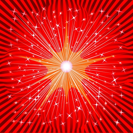 Abstract red background of the stars and stripes Vector