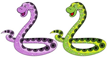 The snake symbol in 2013 on a white background options Vector