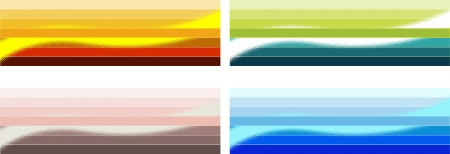 halftones: Decorative items for the decoration strip and halftones options Illustration
