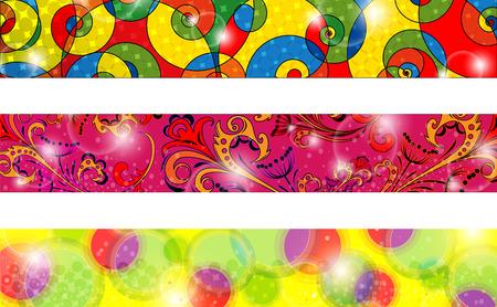 three banner-vector decorative elements Vector