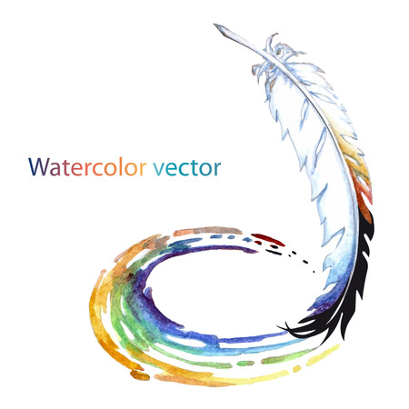 watercolor pen: Abstract watercolor pen for creativity on a white background