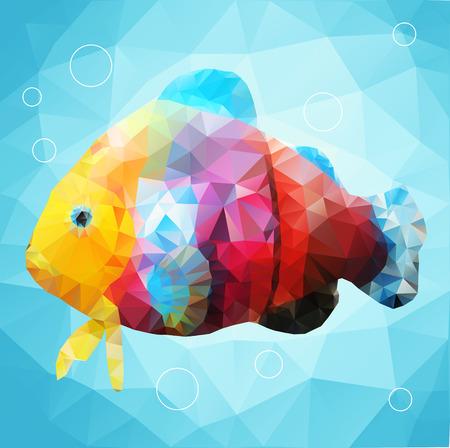 ornamental fish: I pesci ornamentali nello stile di grafica poligonale