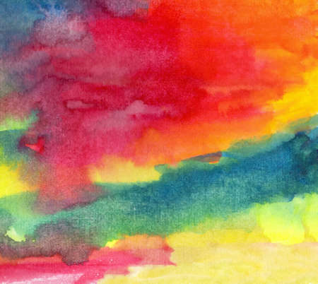 water stained: Watercolor abstract background of color stains of the spectrum